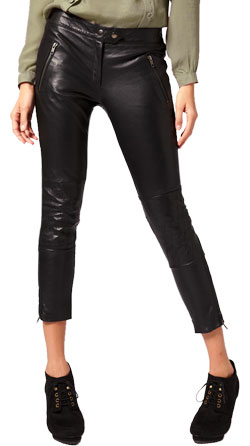 Cool and Urbane Leather Capri Pants for Women