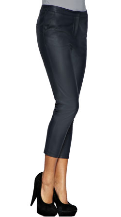 Simple and Stylish Leather Capri Pants for Women