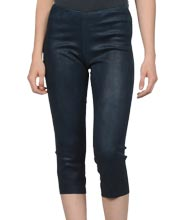 tight-fitting-womens-suede-leather-capri-pants