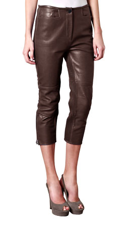 High Rise and Sporty Leather Capri