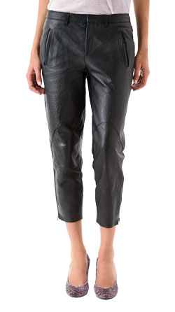 Ultra Chic Sprawling Leather Capri