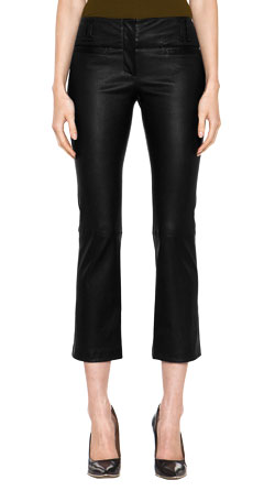Classique Boot Cut Leather Capri