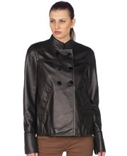 chinese-collar-corporate-womens-leather-blazer