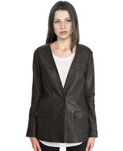 collarless-corporate-womens-leather-blazer