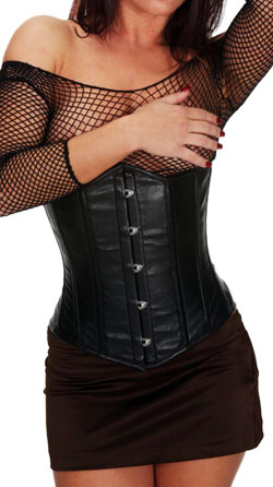 Boning Fastening Back Leather Corset