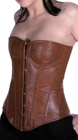 Over-Bust Sized Leather Corset