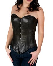 striking-basic-black-leather-corset