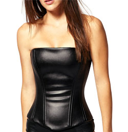 Curved Shaped Striking Leather Corset