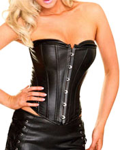 tube-top-style-crew-neck-leather-corset