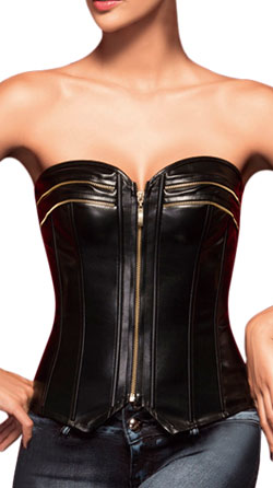 Crew Patterned Leather Corset