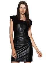 jersey-interlaced-clubwear-womens-leather-dress