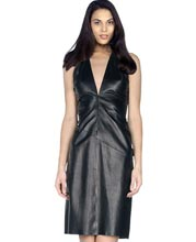 halter-neck-womens-leather-mini-dress