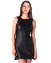 vintage-style-leather-dress-with-v-back