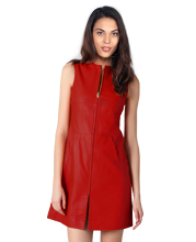 crew-neck-leather-dress-with-uncovered-zipper-closure