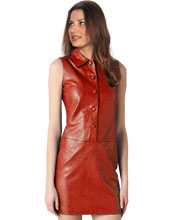 sleeveless-mini-formal-pattern-leather-dress