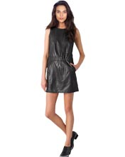 cute-little-leather-dress-with-elastic-waist