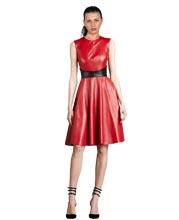 flirty-style-pleated-leather-dress