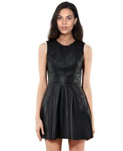 quilted-round-neckline-leather-dress