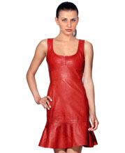 apple-cut-leather-dress-for-women