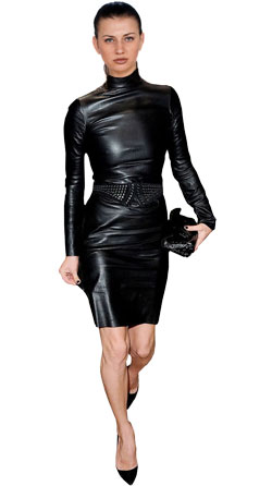 Slim Cut Leather Dress