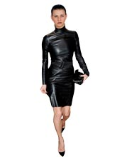 slim-cut-leather-dress