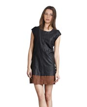 subtle-leather-dress-with-contrast-hem
