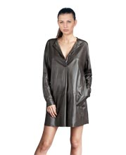 Cool Contemporary Style Leather Dress