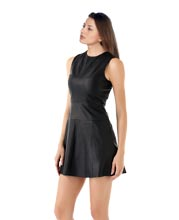 Frisky Sleeveless Leather Dress