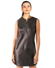 Subtle and Rugged Leather Dress