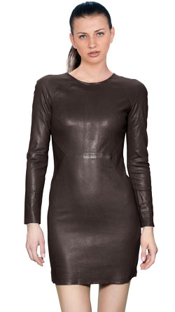 Smoking Full Sleeved Leather Dress