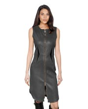 stretchy-and-slender-leather-dress