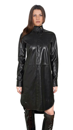 Sumptuous and Lavish Leather Dress