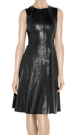 A-line Flared Leather Dress