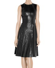 a-line-flared-leather-dress