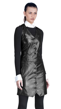 Mod Short Leather Dress