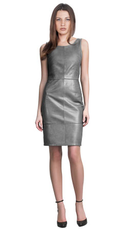 Contemporary-Svelte Leather Dress