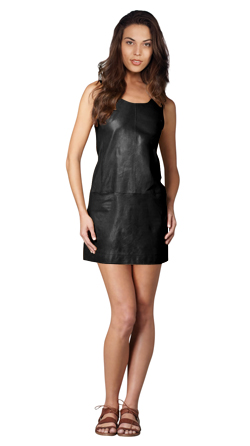 Slim Cut Leather Tank Dress