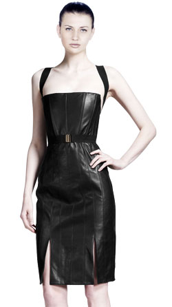 Fab Leather Corset Dress