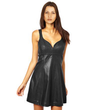 flirty-n-sassy-leather-skater-dress