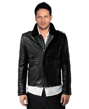 Buy trendy short mens leather jackets online