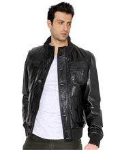 Buy stylishly cool mens leather jacket online
