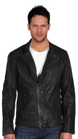 Comfortable Fit and Cozy Mens Leather Jacket