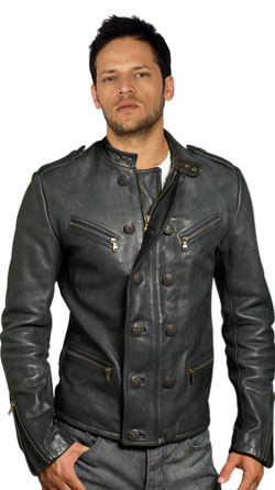 military styled Leather Jacket for Men