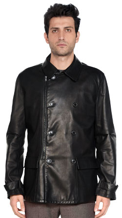 Leather Jacket with Textured Impression