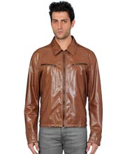 elastic-bottom-hem-leather-jacket