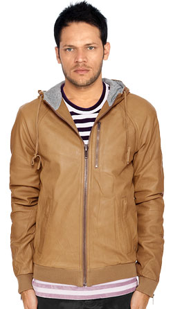 Charismatic Hooded Leather Jacket