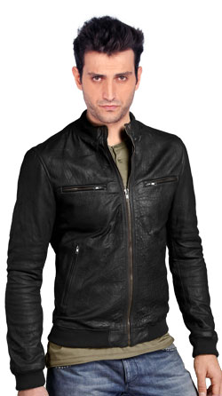 Jagged Leather Jacket for Teens