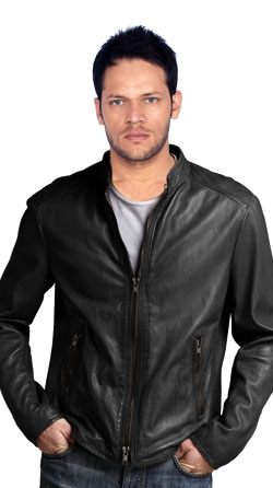 Leather Jacket That Has Two Way Fastening