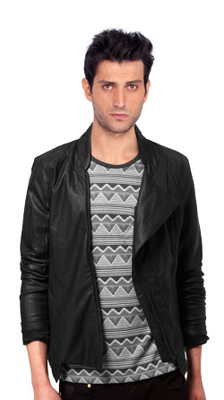 Refined Mens Leather Jacket