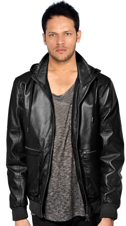 Occasional Leather Jacket with Silver Zip Fastening
